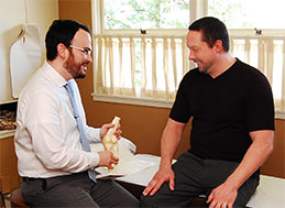 Chiropractic Patient and Doctor